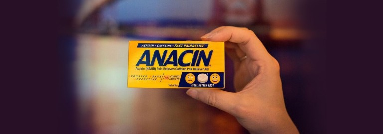 Anacin product in hand